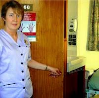 hopital poignée de porte en cuivre lutte maladie nosocomiale