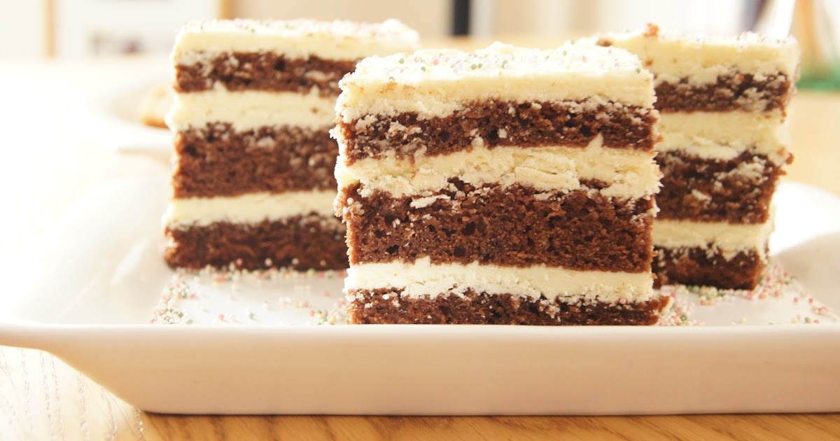 Aleksandra's Recipes: Dark chocolate cake with white chocolate mousse