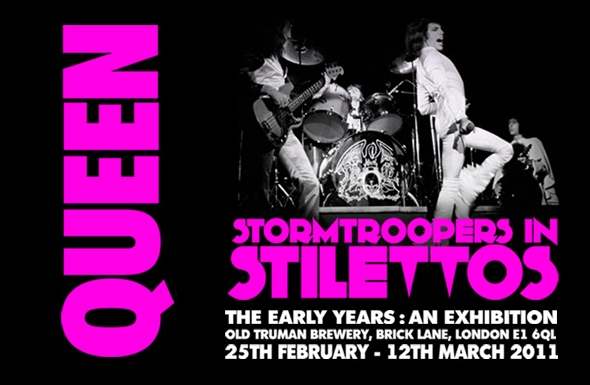 Post thumbnail of News – Stormtroopers In Stilettos – Queen's 40th Anniversary exhibition