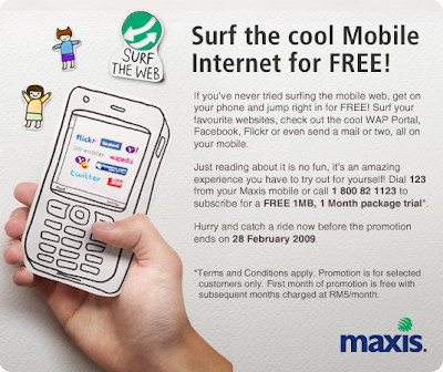 TERTARIKCUNNYA.: Free Internet Only maxis use Khai Terbaek