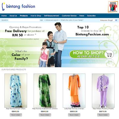 Baju Kurung, Baju Melayu, Baju Raya at BintangFashion.com
