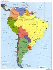 MAPA DE SURAMERICA