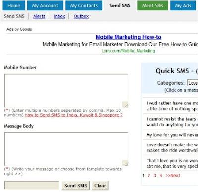Send Free SMS Mobile