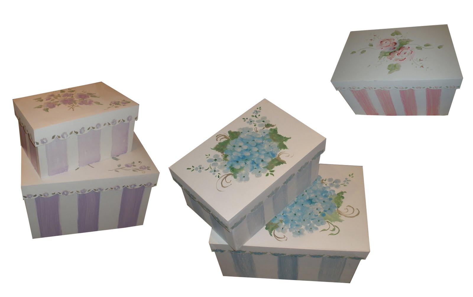 Fotos de cajas de madera pintadas a mano 30