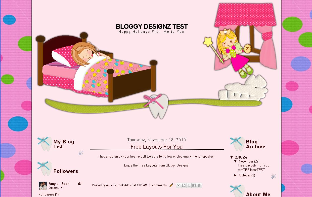 bloggy designz tooth fairy 3 column free layout