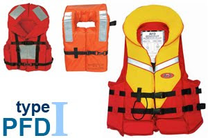Type 1 off shore life jacket