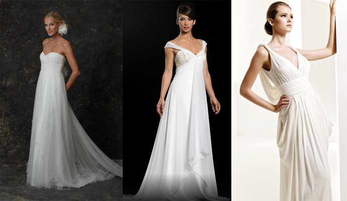 Fashion source book for Grecian goddess wedding dresses