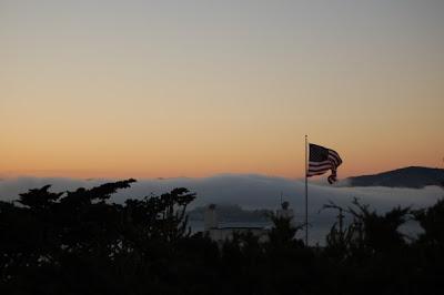 Etats Unis - Alcatraz sous la brume de San Francisco
