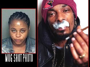 Shante Broadus Mug Shot and Snoop Dogg Smoking Cigar