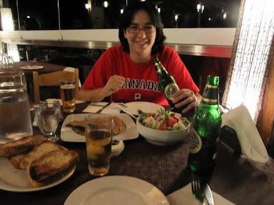 Cenando en la Taberna Panorama