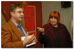Grzegorz Dąbrowa i Ela Celejewska na wystawie malarstwa 07