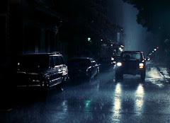 Jazda w deszczu...