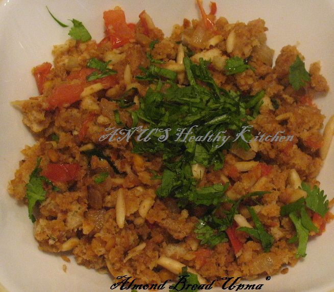 Bread Almond Upma