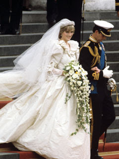 Princess Diana and Prince Charles wedding photo.