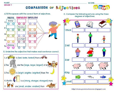 1 - COMPARISON OF ADJECTIVES