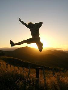 A Lame Man Jump For Joy 80