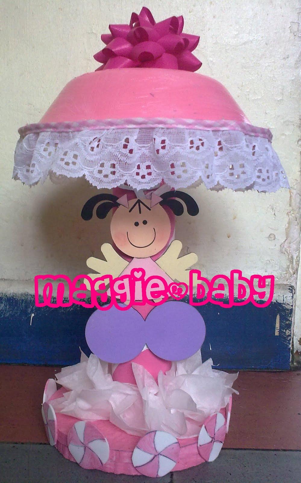 Centro de mesa para niñas en forma de lámpara, puede usarse para