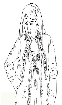 Free coloring pages miley cyrus as hannah montana for Hannah montana coloring pages free to print