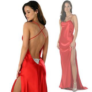kırmızı gece kıyafetleri