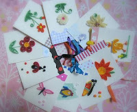quilled paper gift tags