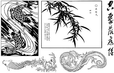 Art Neko P050 - Hokusai Dragon Sheet by Taylored Stamps