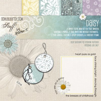Heather Taylor, Daisy Mini-Kit Preview