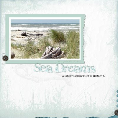 Heather Taylor Free Font: Sea Dreams