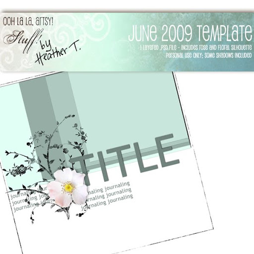 Heather T., June 2009 Template Freebie