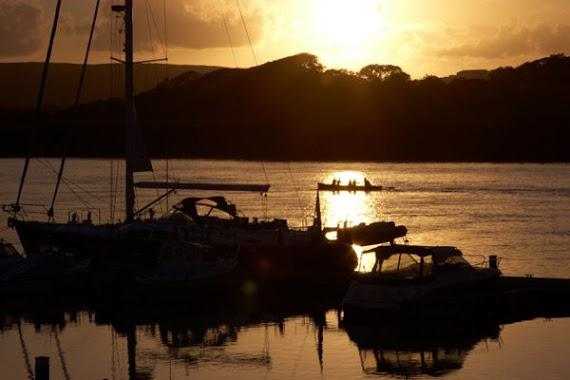Un coucher de soleil sur le Marina