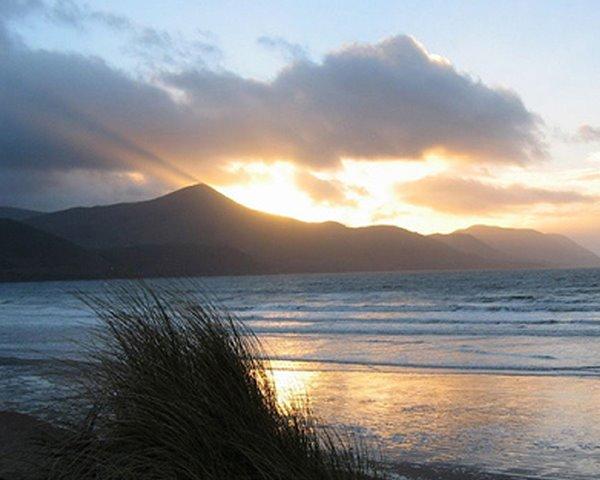 Rossbeigh beach bei Sonnenenergang, een Naturparadies