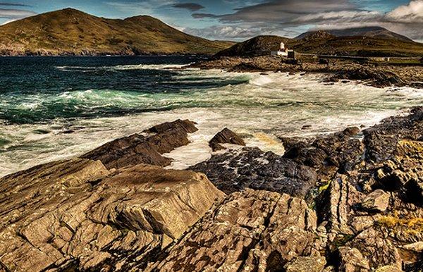Esou richteg well beim Liichtturm vun Valentia Island