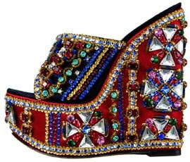 jeweled wedge sandal @fashionpickles
