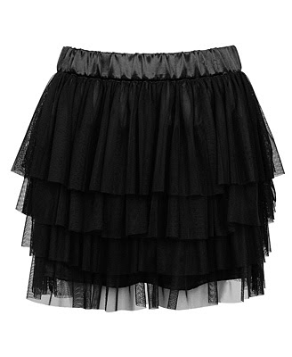 tiered tulle black skirt @ fashionpickles