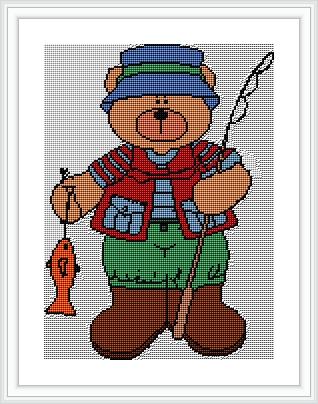 urso pescador