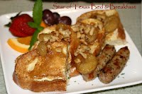 plate of french toast with fruit