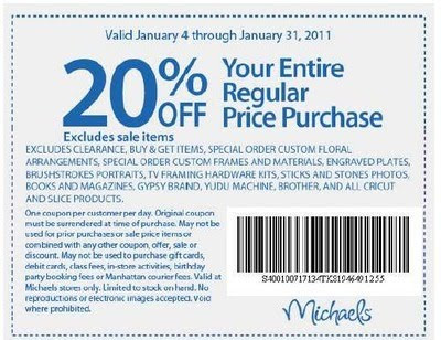Labels: Michaels Coupons