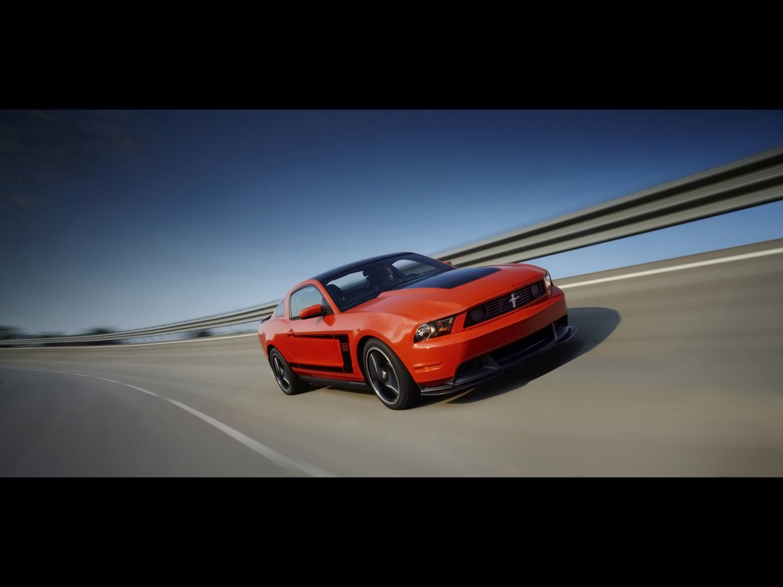 Ford Mustang Boss 302 High Speed orange High Definition Wallpaper