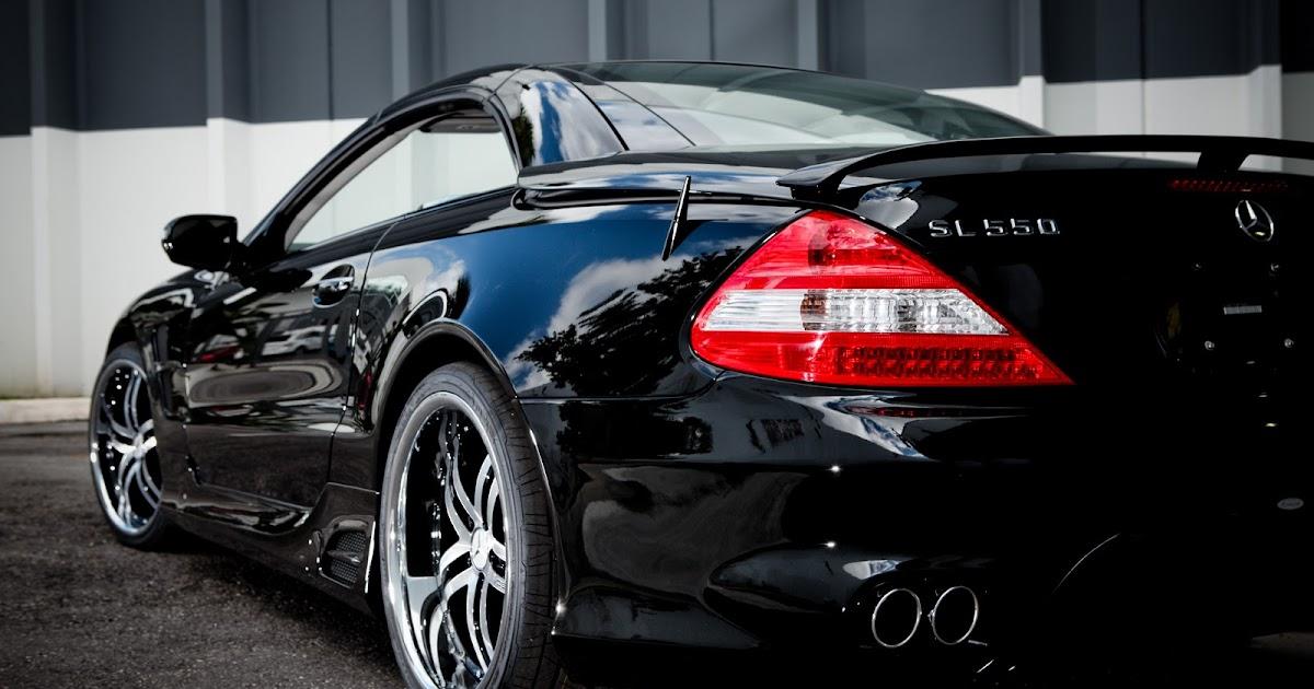 Mercedes Bens Sl550 Black Vossen Cars Auto Moto
