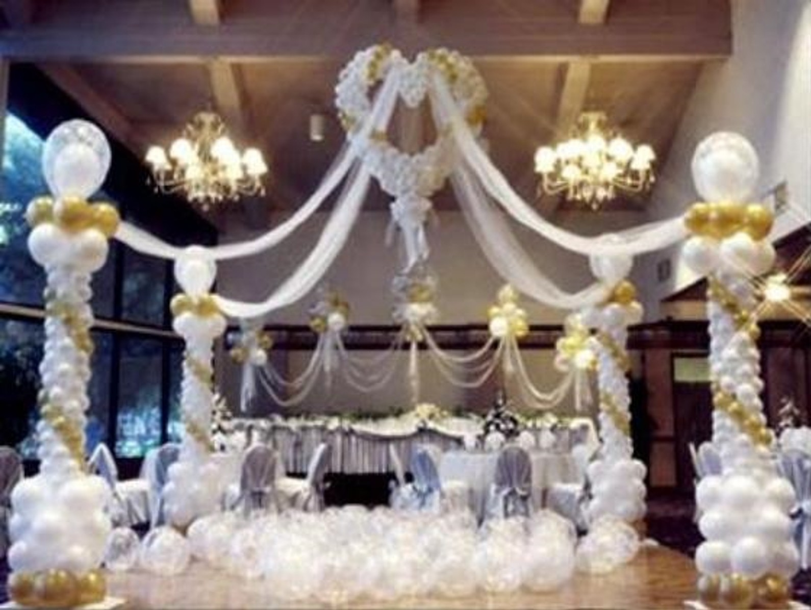 Balloons decorations ideas interior home design for Ballon wedding decoration
