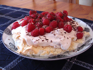 Raspberry Pavlova by Ng @ What's for Dinner?