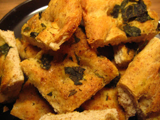 Rosemarie, Basil and Garlic Focaccia @ Whats for Dinner?