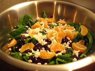 Beet, Clementine, Feta and Spinach Salad by NG @ Whats for Dinner?