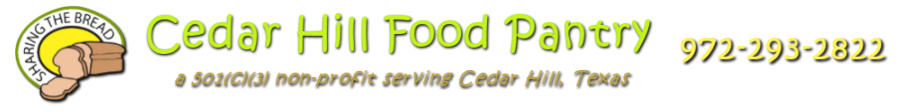 Cedar Hill Food Pantry