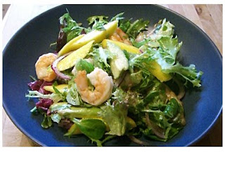 prawn, lime and mango salad