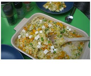 baked pumpkin & feta risotto