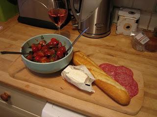 chorizo and cherry tomato salad