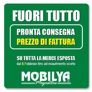 Mobilya megastore dal 5 febbraio fuori tutto da mobilya for Mobilya caserta