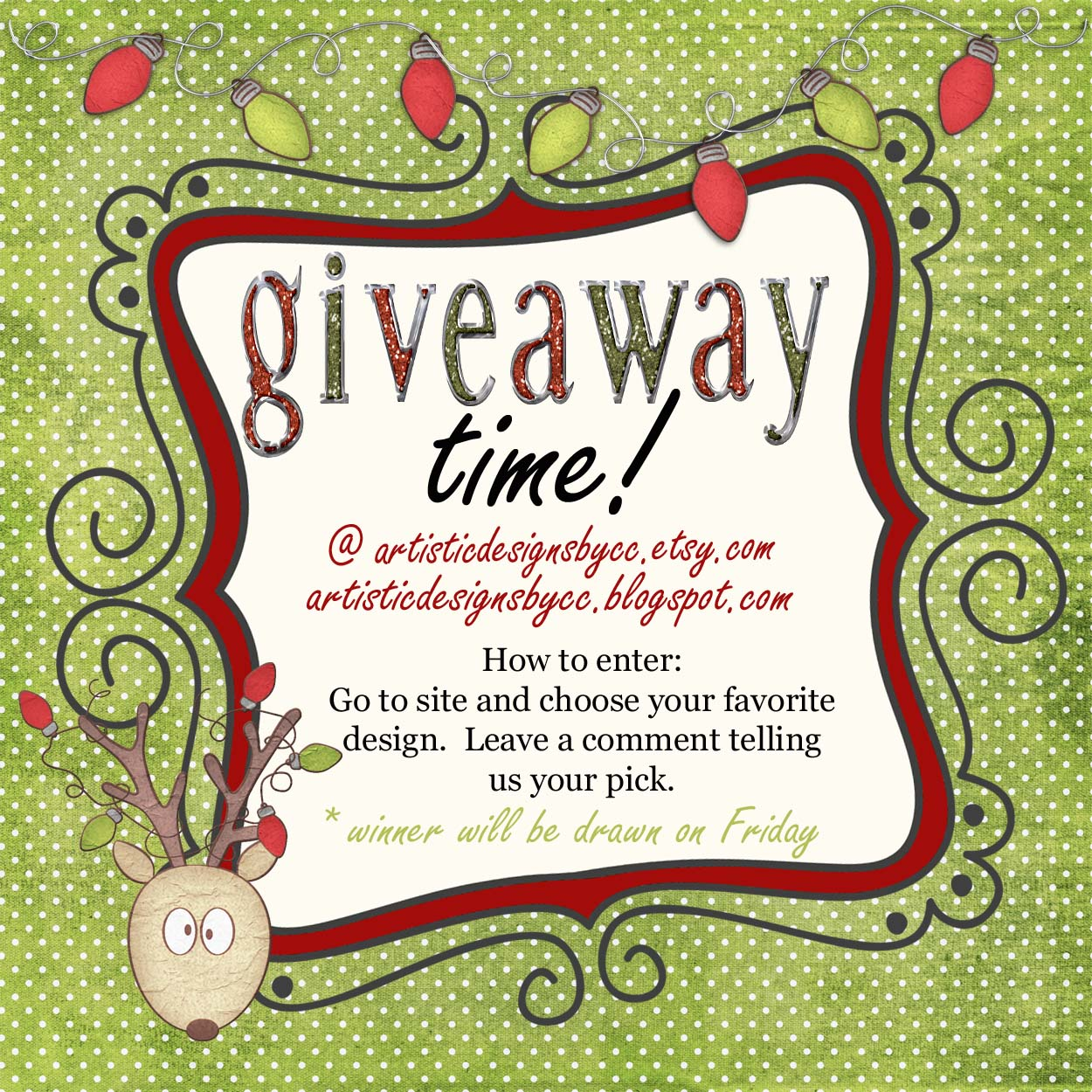 jenna blogs christmas card template giveaway
