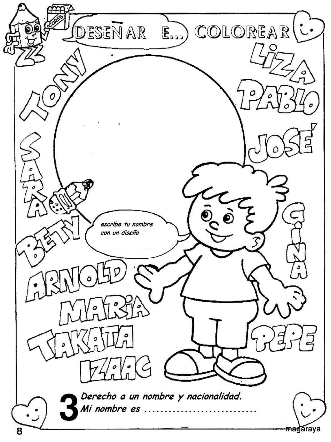para colorear de los derechos de los niños - Dibujos para colorear ...