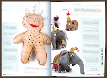 "My Cloth Critters in Stampington & Company ""Stuffed - A Crafting of Softies"" magazine."